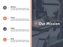 Our Mission Goal Ppt Powerpoint Presentation Outline Deck
