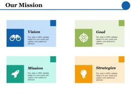Our Mission Goal Strategy F440 Ppt Powerpoint Presentation Inspiration Background
