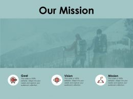 Our Mission Goal Vision A141 Ppt Powerpoint Presentation Layouts Slideshow