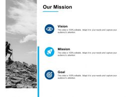 Our Mission Goal Vision A382 Ppt Powerpoint Presentation Styles Format