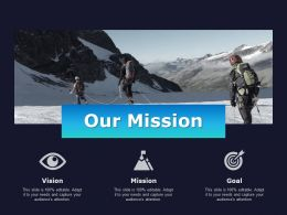 Our Mission Goal Vision C692 Ppt Powerpoint Presentation Summary Skills