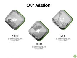 Our Mission Goal Vision F327 Ppt Powerpoint Presentation Pictures Guide
