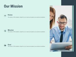 Our Mission Goal Vision F812 Ppt Powerpoint Presentation Portfolio Example