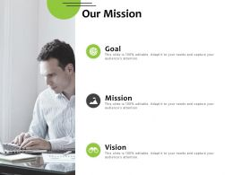 Our Mission Goal Vision F895 Ppt Powerpoint Presentation Pictures Designs