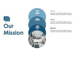 Our Mission Goal Vision Ppt Summary Background Designs