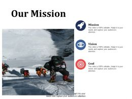 Our Mission Goal Vision Ppt Summary Infographic Template