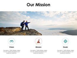 Our Mission Goals C1023 Ppt Powerpoint Presentation Slides Files