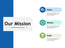 Our Mission Goals I26 Ppt Powerpoint Presentation File Background Designs