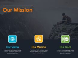 Our Mission Icons Process Ppt Summary Samples