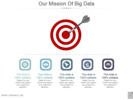 Our Mission Of Big Data Powerpoint Slides Design