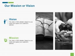 Our Mission Or Vision Career Roadmap Ppt Gallery Show