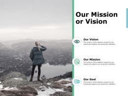 Our Mission Or Vision Ppt Powerpoint Presentation Infographics Information