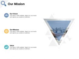 Our Mission Our Goal Our Vision C181 Ppt Powerpoint Presentation File Outfit