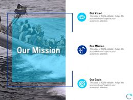 Our Mission Our Goals L813 Ppt Powerpoint Presentation File Brochure