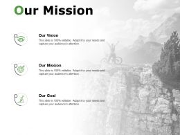 Our Mission Our Vision Our Goal C192 Ppt Powerpoint Presentation Gallery Clipart