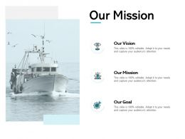 Our Mission Our Vision Our Goal E41 Ppt Powerpoint Presentation Gallery Tips