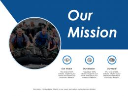 Our Mission Our Vision Our Goal Ppt Inspiration Outline