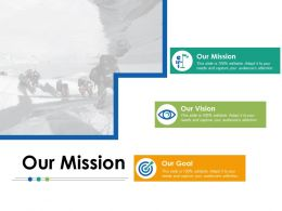 Our Mission Our Vision Ppt Powerpoint Presentation File Slideshow