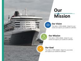Our Mission Our Vision Ppt Professional Graphics Download
