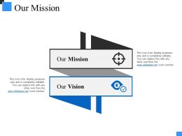 Our Mission Powerpoint Shapes