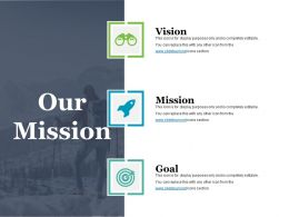 Our Mission Powerpoint Slide Background