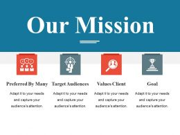 Our Mission Powerpoint Slide Templates Download