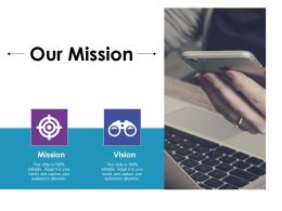 Our Mission Ppt Gallery Graphics Pictures