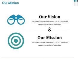 Our Mission Ppt Infographic Template