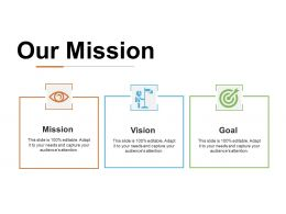 Our Mission Ppt Infographic Template Graphics Example
