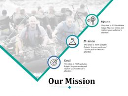 Our Mission Ppt Infographic Template Graphics Template