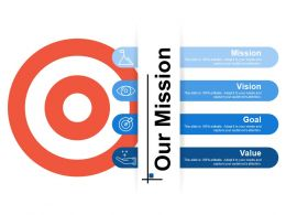 Our Mission Ppt Infographic Template Guidelines