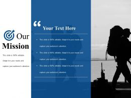 Our Mission Ppt Infographics Layouts