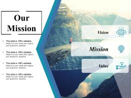 Our Mission Ppt Inspiration Designs