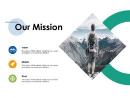 Our Mission Ppt Inspiration Infographic Template