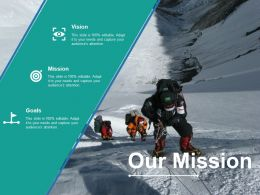 Our Mission Ppt Model