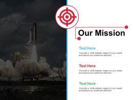 Our Mission Ppt Model Smartart