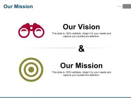 Our Mission Ppt Portfolio Guidelines