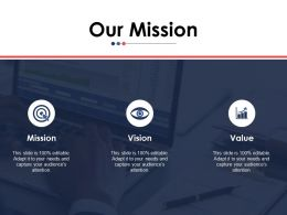 Our Mission Ppt Portfolio Visuals