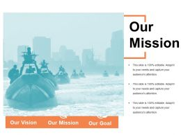 Our Mission Ppt Slide Design