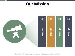 Our Mission Ppt Slides Design Templates