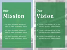 Our Mission Ppt Styles Introduction