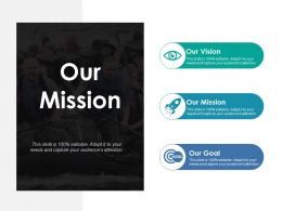 Our Mission Ppt Summary Display