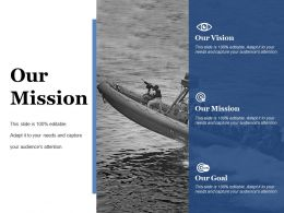 Our Mission Ppt Summary Smartart