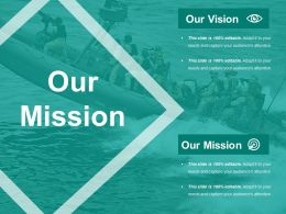 Our Mission Ppt Visual Aids Pictures