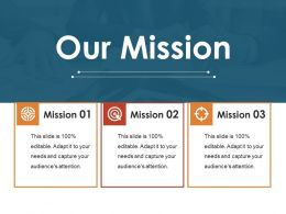 Our Mission Ppt Visual Aids Professional