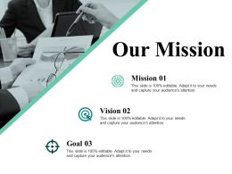 Our Mission Presentation Visual Aids Template 1