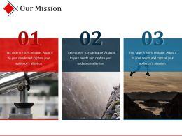 Our Mission Sample Presentation Ppt