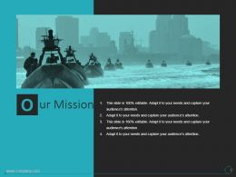 Our Mission Shown By Navy Images Ppt Slides