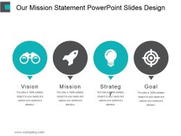 Our Mission Statement Powerpoint Slides Design