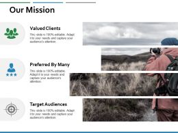 Our Mission Target Audiences Ppt Powerpoint Presentation Inspiration Slides